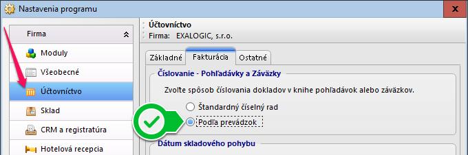 Posts_prevazdky_nastavenie_programu_cislovanie_faktur_podla_prevadzok