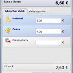 Formulár úhrady dokladu s rozúčtovaním na viacero typov platieb (modul Pokladnica OBERON)