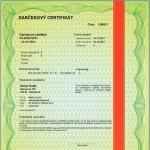 Darčekový certifikát
