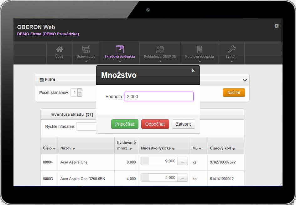 OBERON-Web_Inventura-skladu_tablet